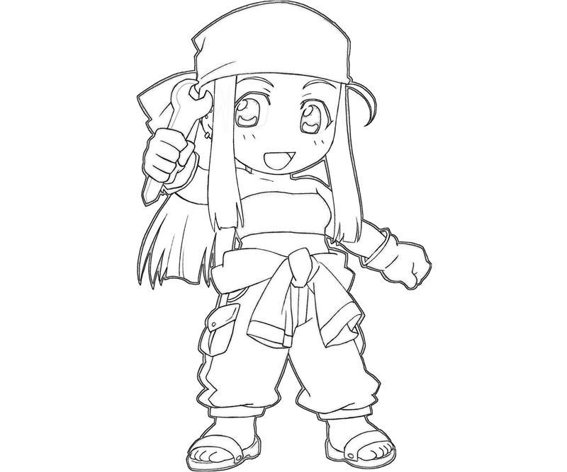 Fullmetal Alchemist Winry Rockbell Funny Tubing Fullmetal Alchemist Coloring Pages