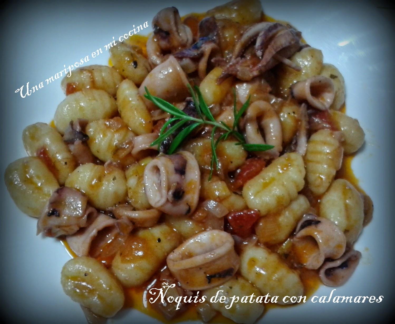 Ñoquis De Patata Con Calamares