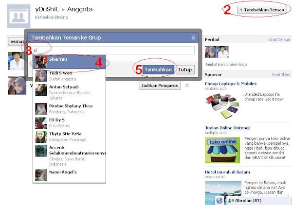 Cara Menambahkan Teman Ke Group Facebook