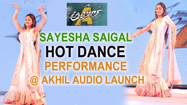 Sayesha Saigal Hot Dance Performance At Akhil Audio Launch, Akhil Dance, Sayesha Dance, Akhil Audio Function Live, SAyesha live Dance