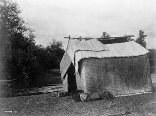A Mat House - Skokomish Edward S Curtis