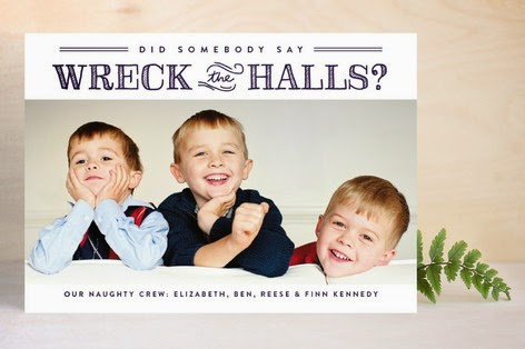 Minted.com Christmas Photo Cards | Wreck the Halls