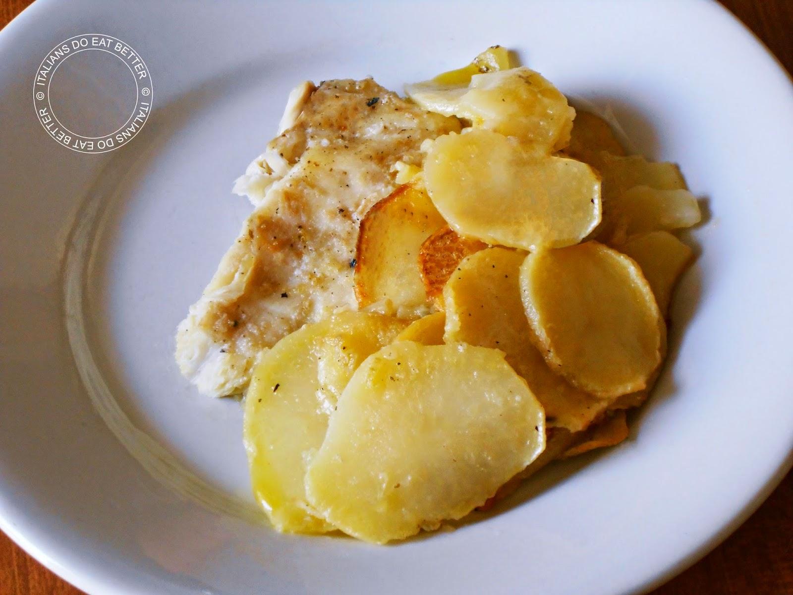 Filetti di platessa su letto di patate italians do eat better - Filetto di orata al forno su letto di patate ...