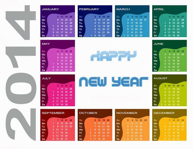 2014 calendar wallpaper