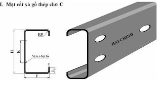 Báo giá xà gồ thép chữ C theo yêu cầu