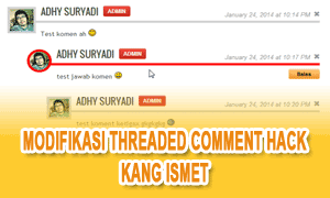 Modifikasi Threaded Comment Hack Style 2 Kang Ismet