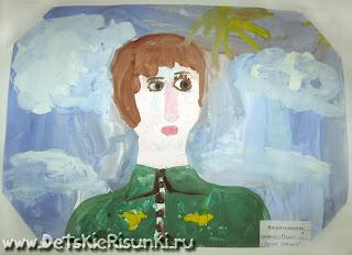 Детские Рисунки портрет защитник Отечества