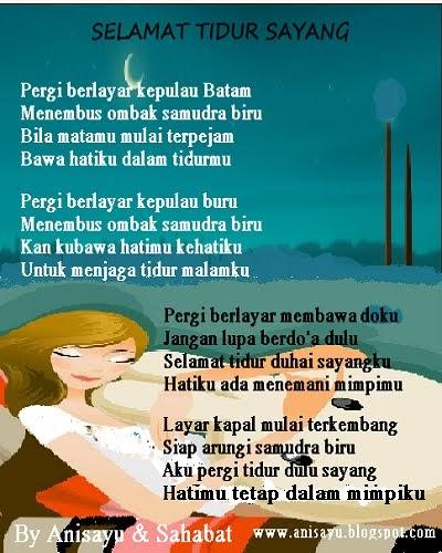 PUISI CINTA BY ANISAYU: Pantun Selamat Tidur Romantis Berbalas