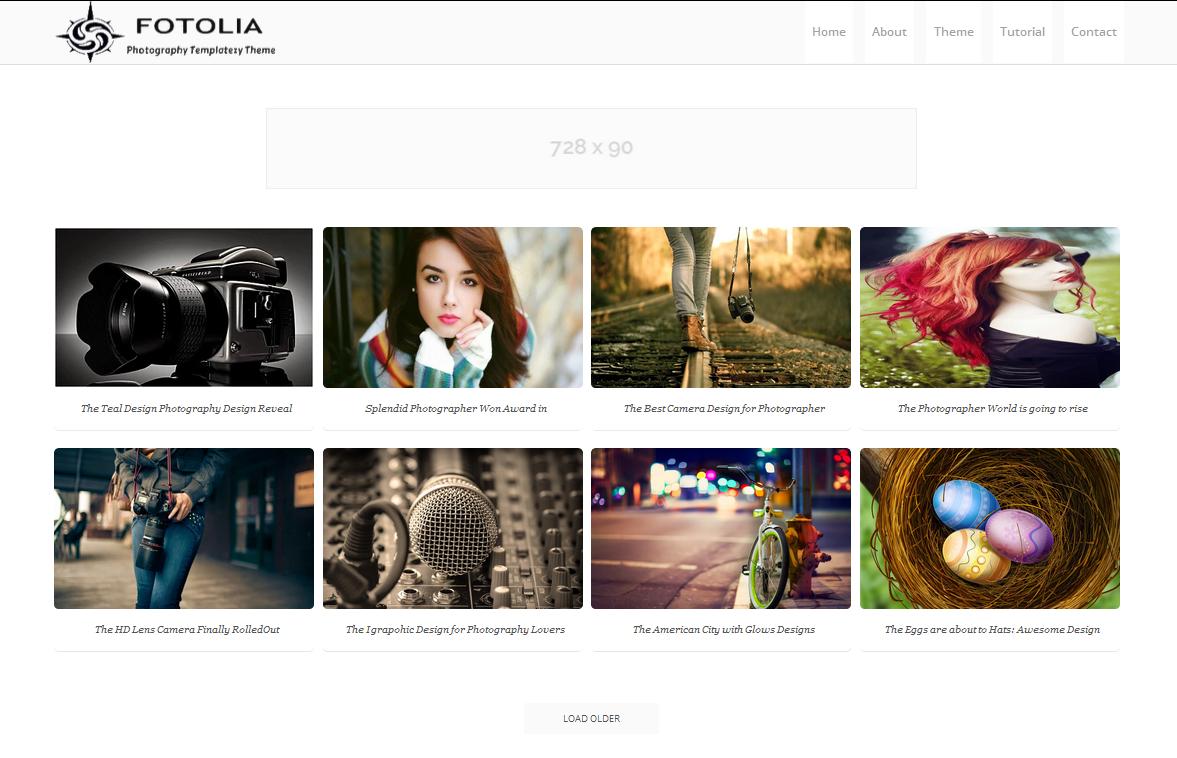 Fotolia responsive blogger templates