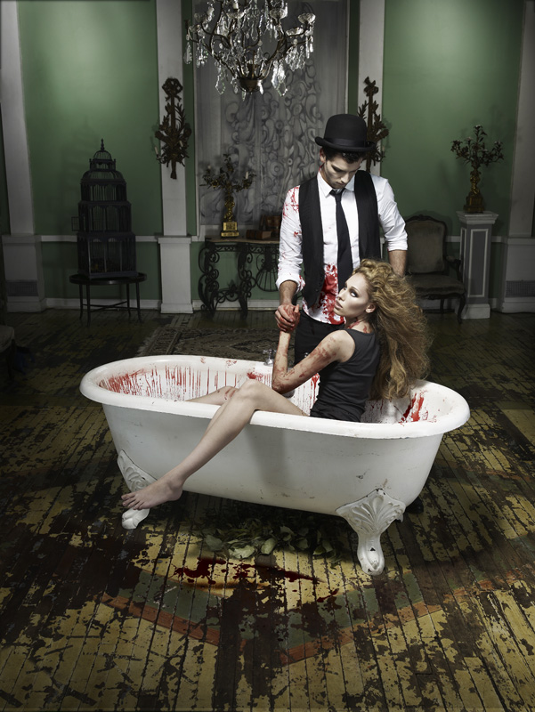 Next top model blog antm c14 vampires for Bathroom photoshoots