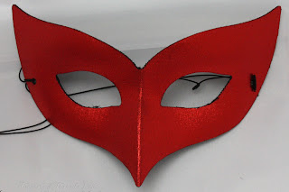 Red Bird shaped Masquerade Ball Eye Mask from Theatrical Threads