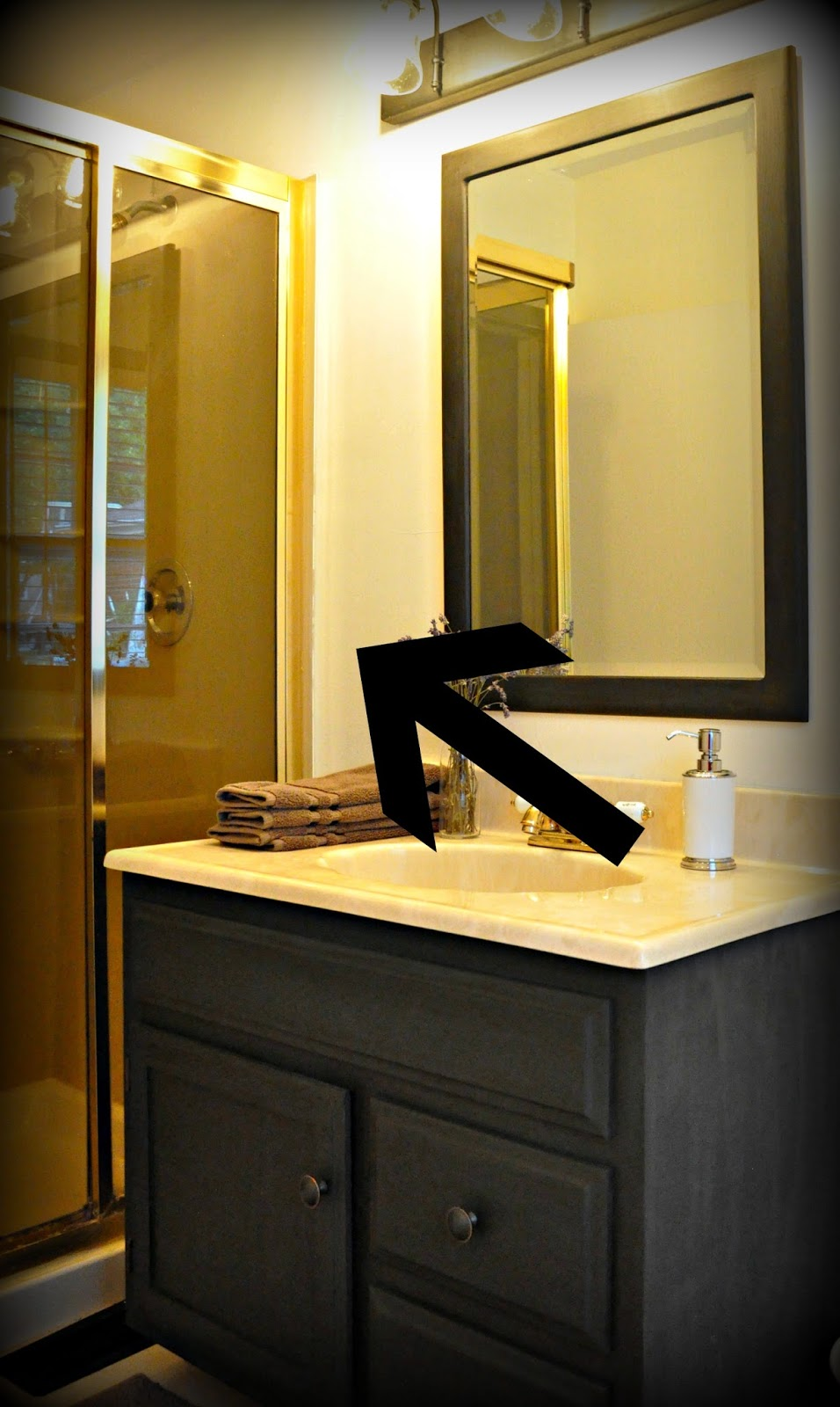 Bathroom Fixtures Gold serendipity refined blog: how to update oak and brass bathroom