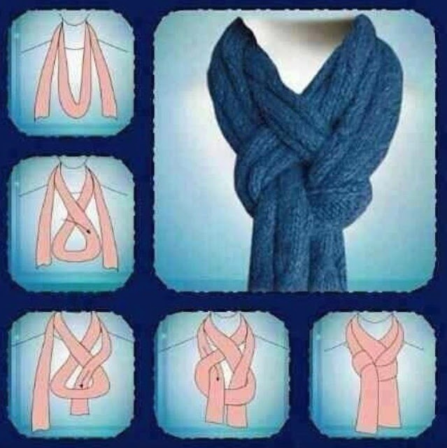 Learn new way to tie a scarf