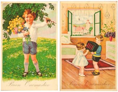 Cartolina Buon Onomastico 1937