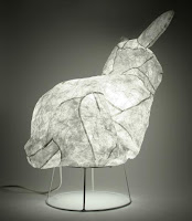 Tyvek inflatable rabbit lamp