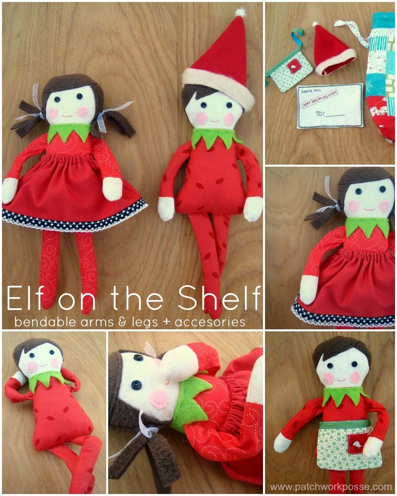 Elf on the Shelf Doll Pattern by Patchwork Posse