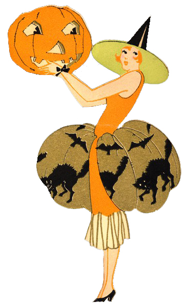 Vintage Art Deco Halloween Print from D&D's Digital Delights
