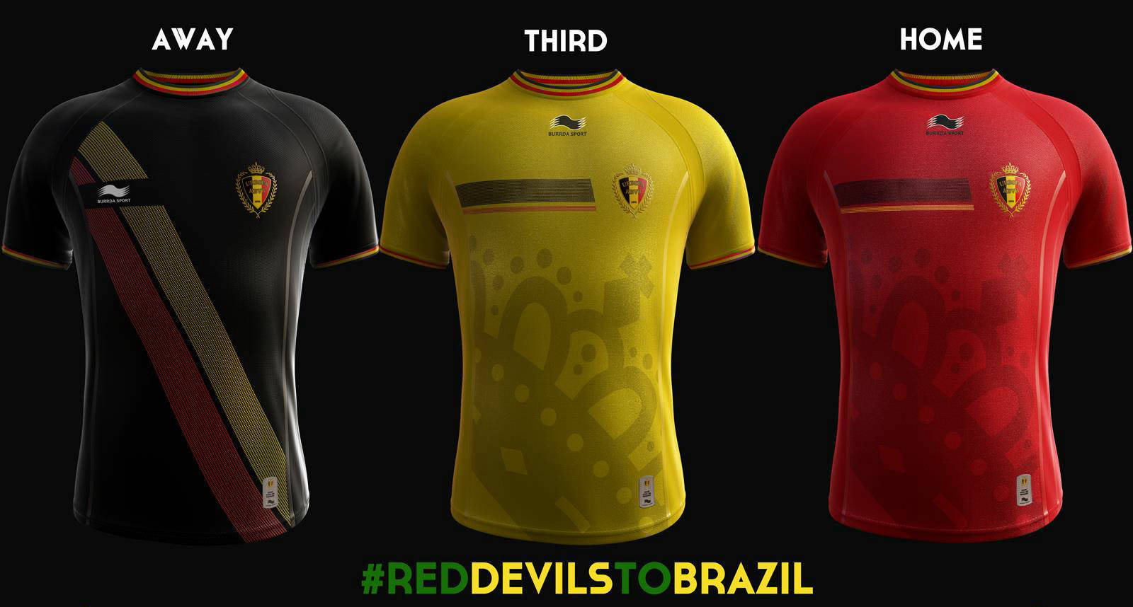 Burrda Sports Today Unveiled The New Belgium 2014 World Cup Home