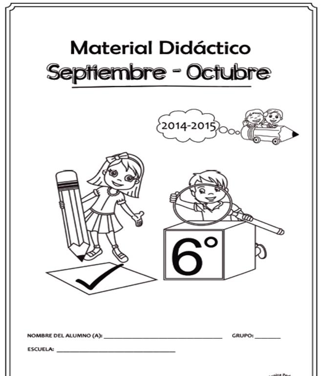 Cuadernillo de Apoyo Didáctico para Sexto Grado 2014 - 2015