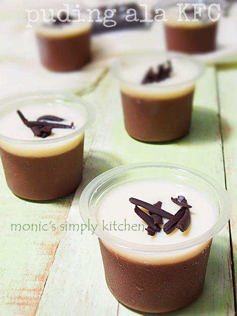resep puding coklat kfc