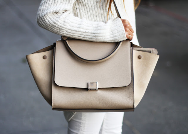 Sincerely Jules all white jeans sweater bag celine famous blogger