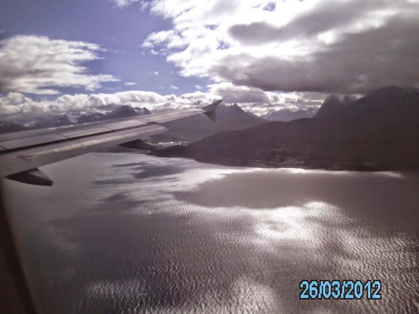 Volando sobre el Canal de Beagle, en el fin del Mundo