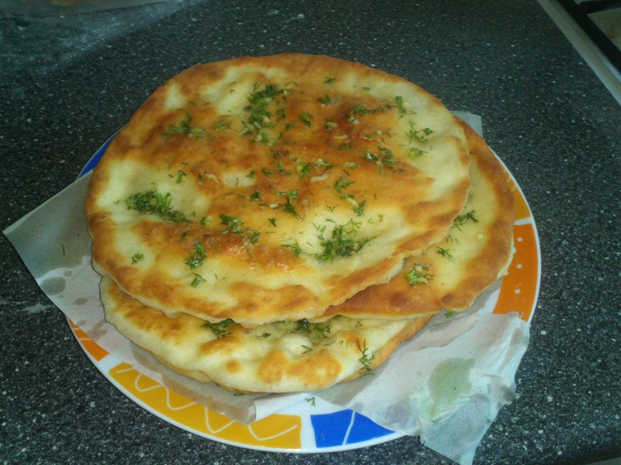 Лепешки с зеленью на сковороде рецепт