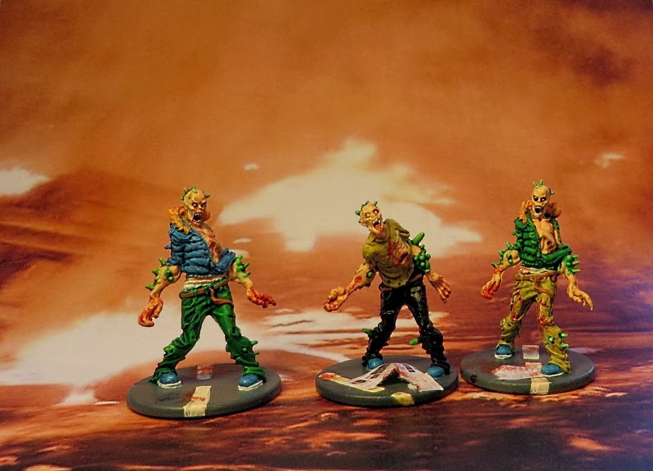 Zombicide, Zombie, Toxic, Walker, Painted, City