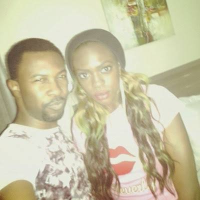 See Photos: Beverly Osu Gives Rapper Ruggedman A Kiss