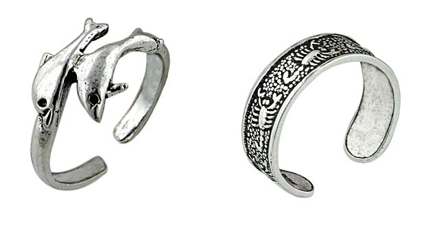 Zodiac Toe Rings