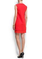 mango kırmızı elbise modeli