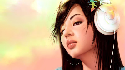 3d fantasy girl - headphone wallpapers
