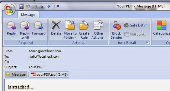 php send html email with pdf attachment