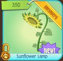 Animal jam rapids by trickertreee sunflower lamp for Floor lamp animal jam
