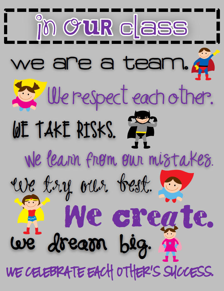 Classroom Decoration Freebies ~ Teaming up to teach superhero classroom theme and a
