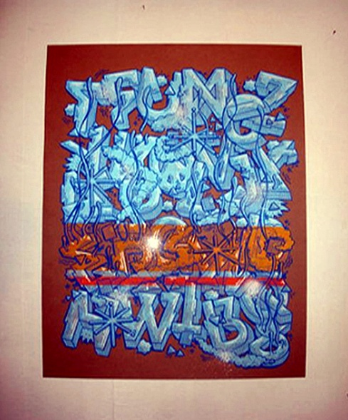 2 Examples 3d Graffiti Alphabet Letters With Iced Out Style