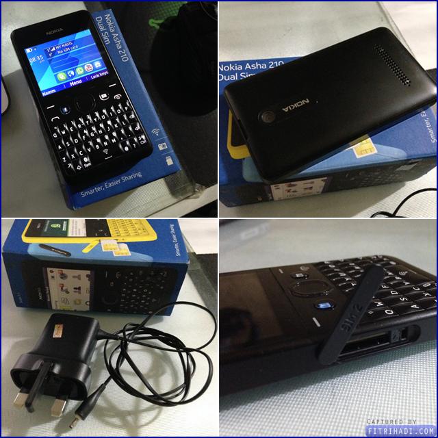 (Review gambar Smartphone Nokia Asha 210 Dual Sim