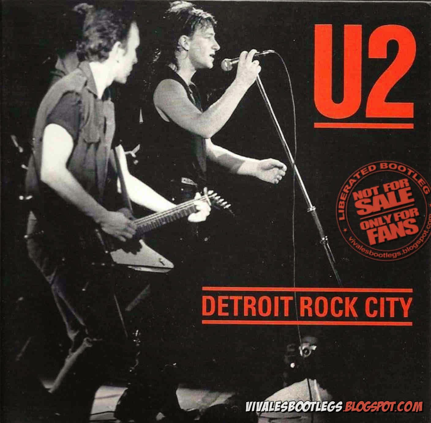 u2 detroit rock city  front cover