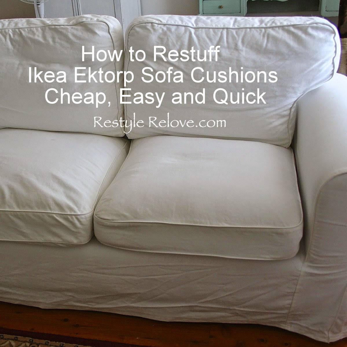 Kitchen Chair Cushions Ikea Restyle Relove How To Restuff Ikea Ektorp Sofa Cushions Cheap