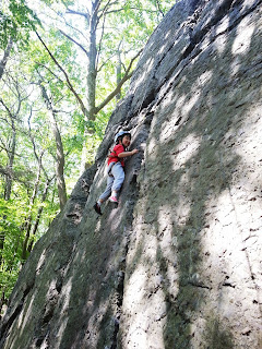 Rock Climbing at Hammond Pond