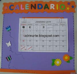 Cartaz calendário simples- não acompanha a folhinha