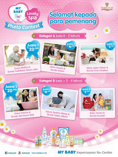 Info Pemenang - 150 Pemenang Kontes Foto Favorit My Baby Lovely Spa 2015