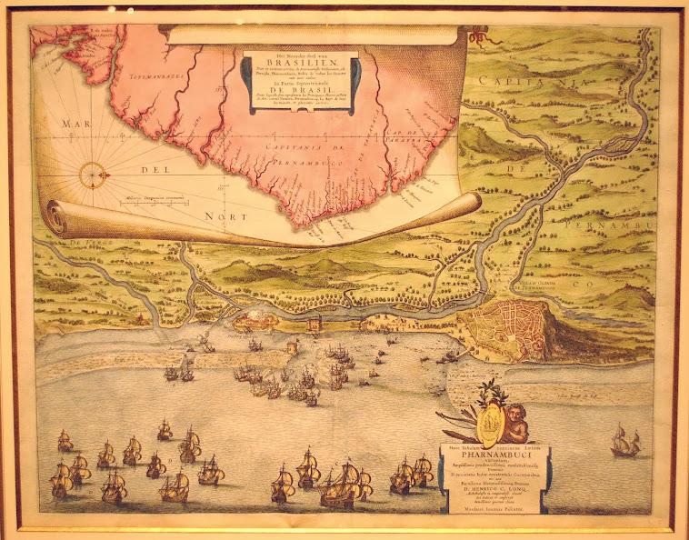 Mapa de Claes Visscher, cartógrafo holandês