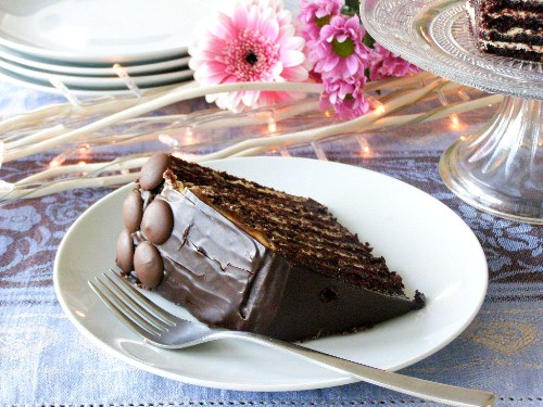 10 layer chocolate orange truffle cake