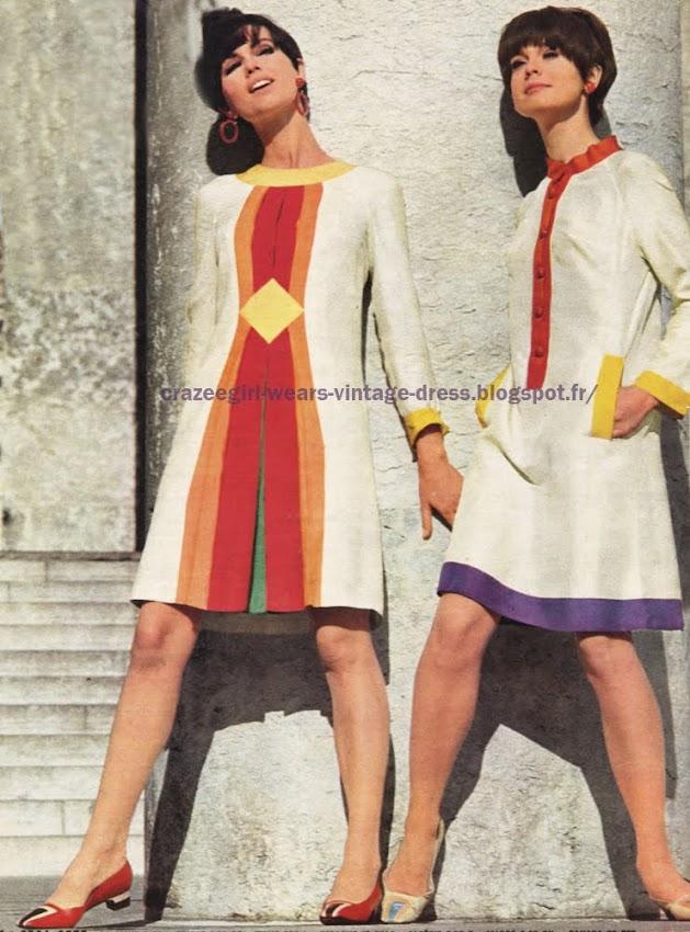 Anne Marie Dorothée Bis Charles Jourdan Pierre d' Alby dress coat 1966 60s 1960