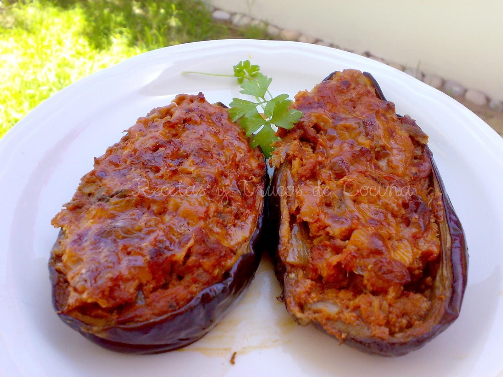 Recetas y trucos de cocina berenjenas rellenas for Cocina berenjenas rellenas