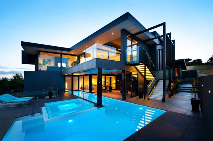 World of Architecture: Amazing Dream Home In Black And Blue ...