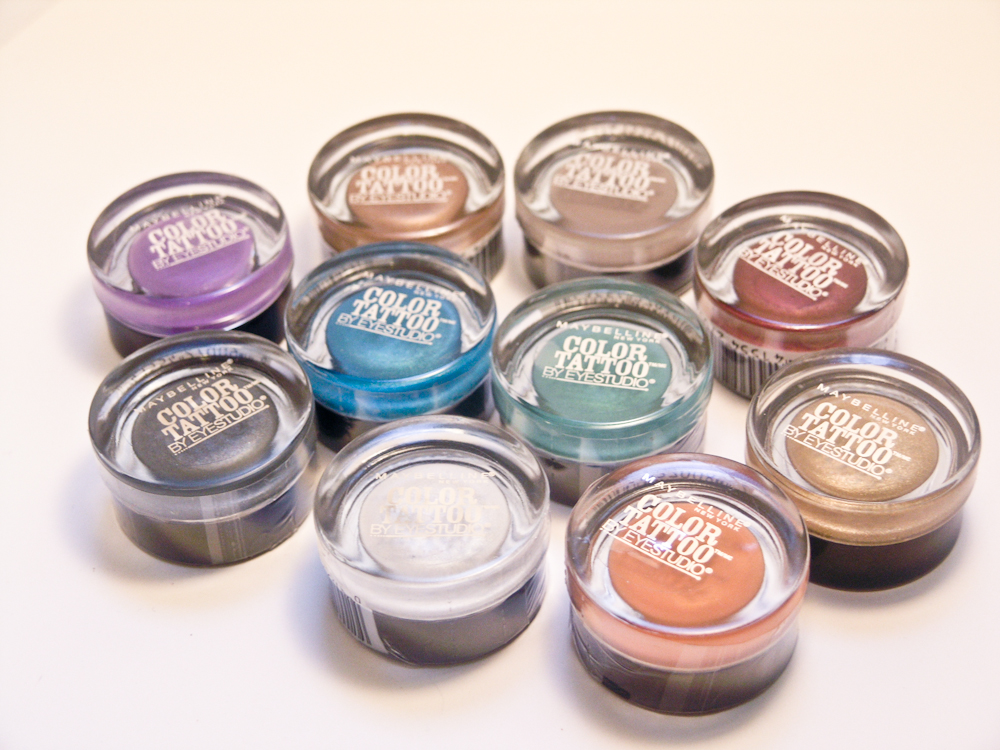 Beauty in bloom maybelline color tattoos 24h cream for Maybelline color tattoo gel eyeshadow