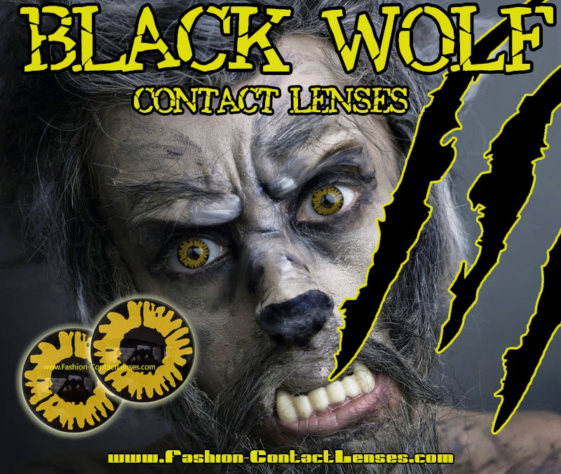 Black Wolf Contact Lenses for Halloween