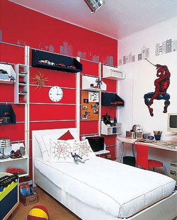 Dormitorios hombre ara a spiderman bedrooms dormitorios for Cuartos decorados hombre arana